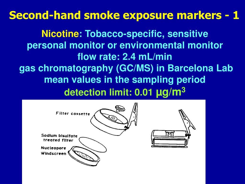Second-hand smoke exposure markers - 1