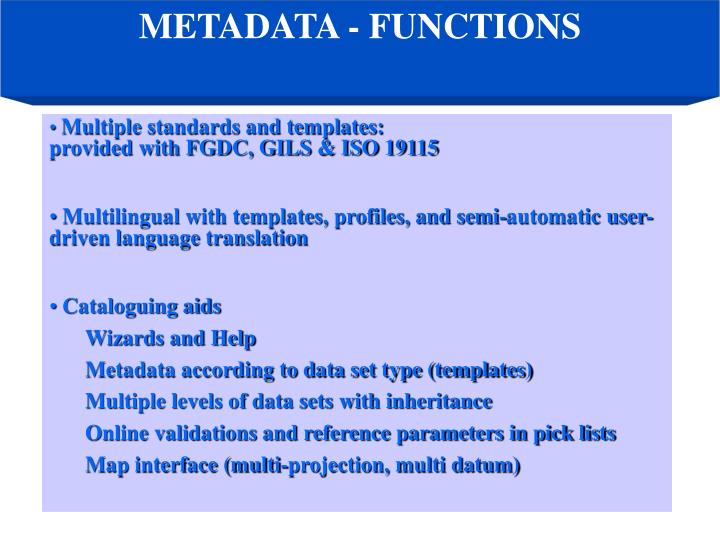 METADATA - FUNCTIONS
