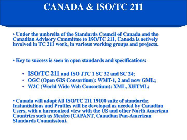 CANADA & ISO/TC 211