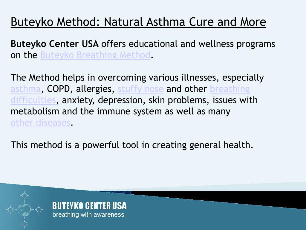 Buteyko Method: Natural Asthma Cure and More