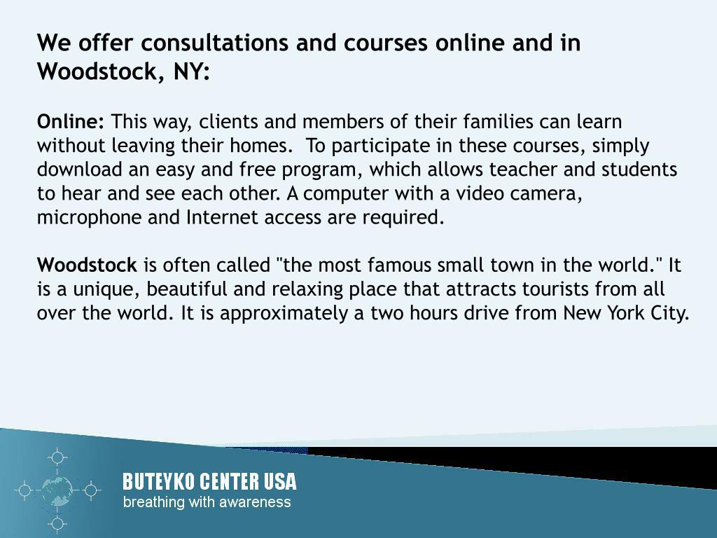 We offer consultations and courses online and in Woodstock, NY:
