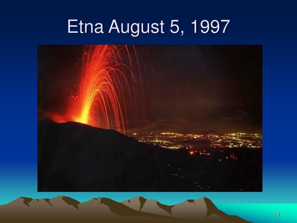 Etna August 5, 1997