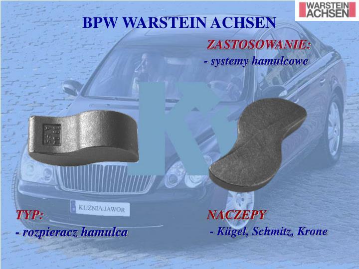BPW WARSTEIN ACHSEN