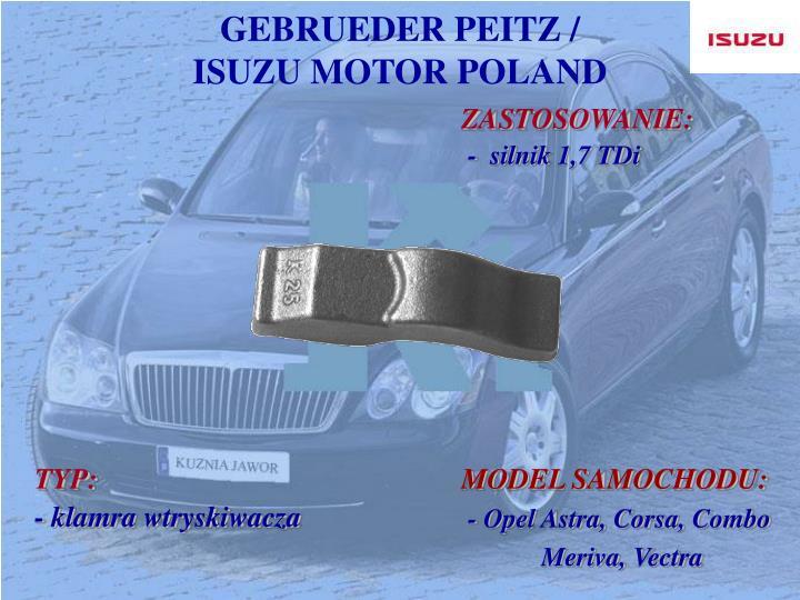 GEBRUEDER PEITZ /