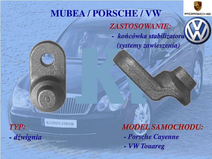 MUBEA / PORSCHE / VW