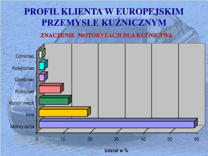 PROFIL KLIENTA W EUROPEJSKIM PRZEMYSLE KUŹNICZNYM
