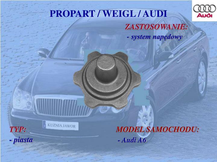 PROPART / WEIGL / AUDI