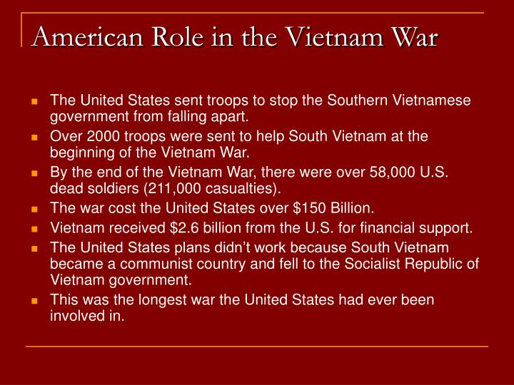 American Role in the Vietnam War