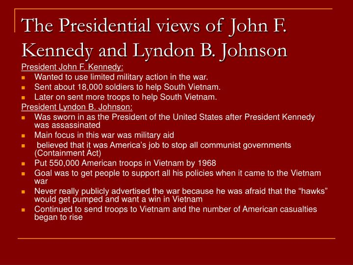 The Presidential views of