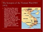 the synopsis of the vietnam war 1964 1975