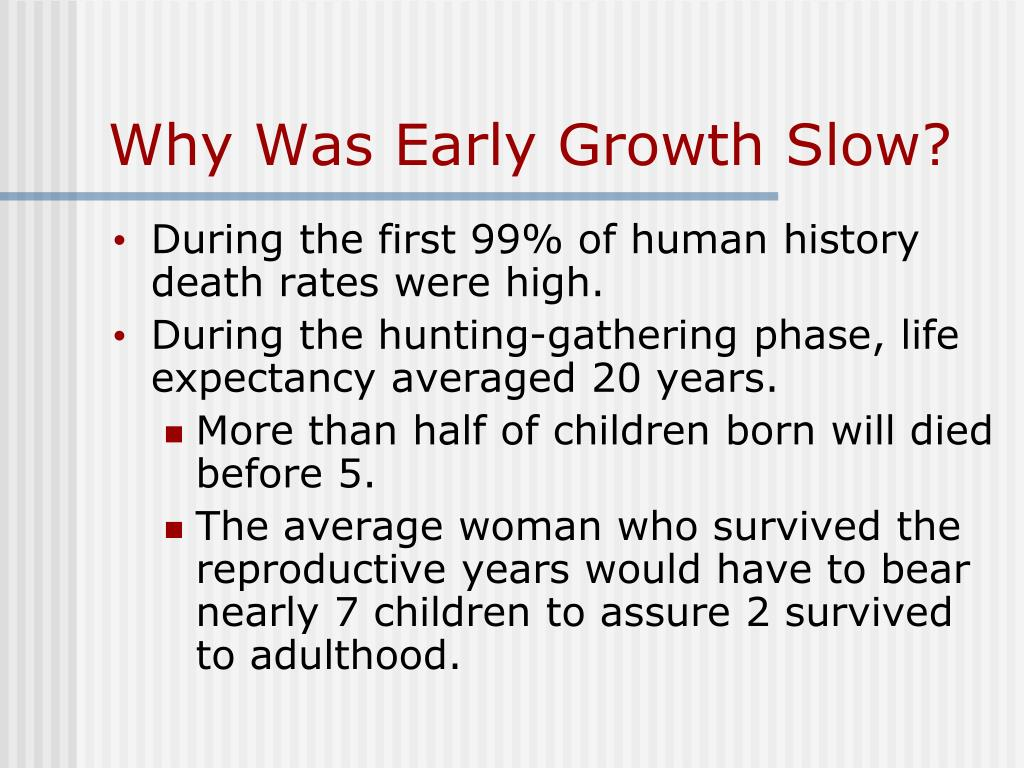 Why Was Early Growth Slow?
