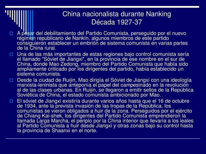 China nacionalista durante Nanking