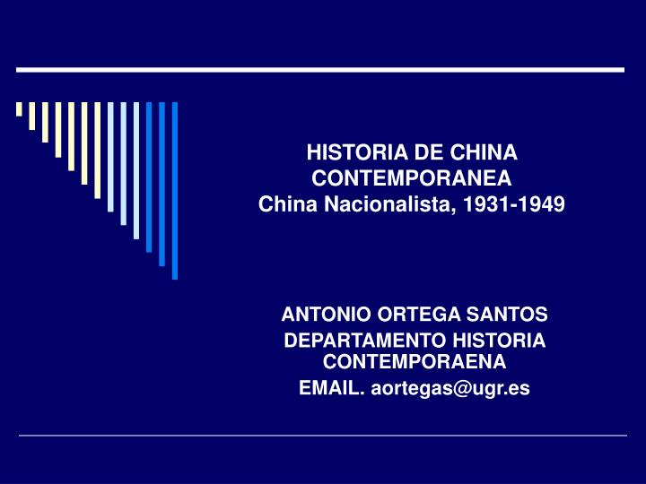 Historia de china contemporanea china nacionalista 1931 1949