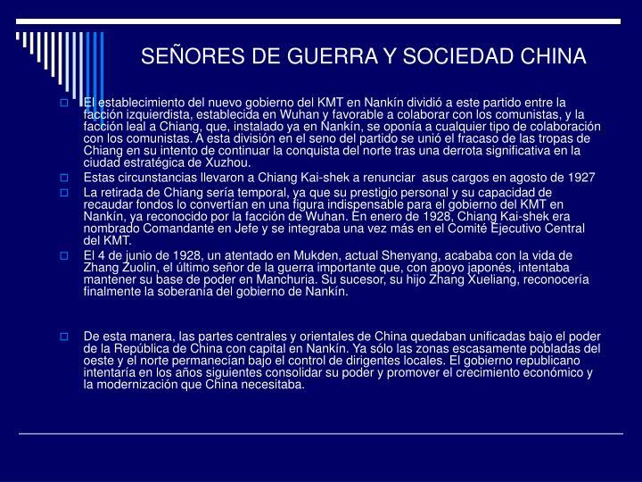 SEÑORES DE GUERRA Y SOCIEDAD CHINA