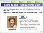 introduced multicultural ceo