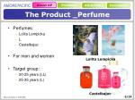 the product perfume