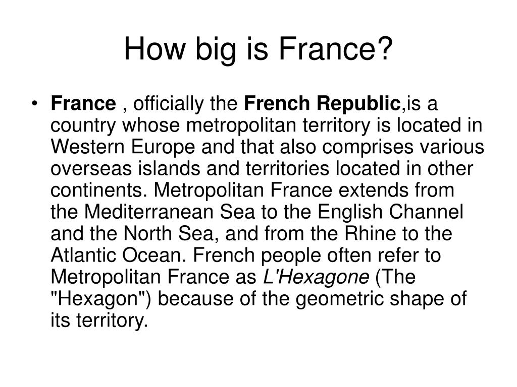 How big is France?