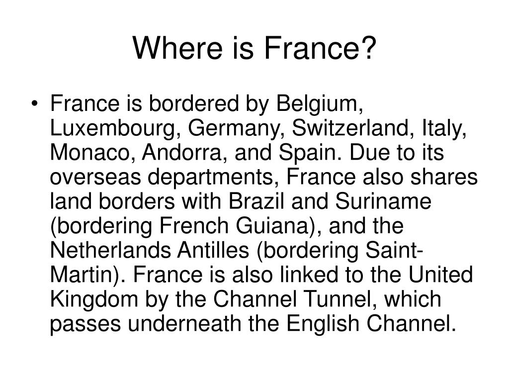 Where is France?