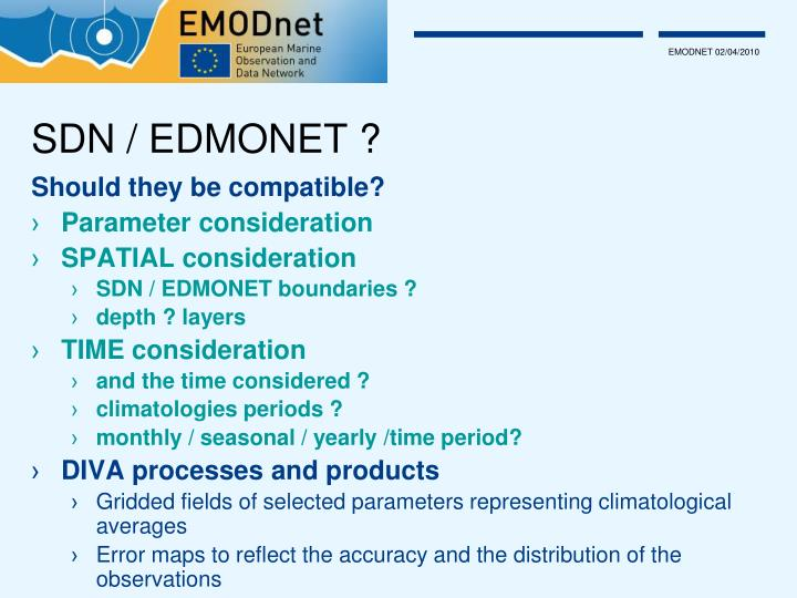 SDN / EDMONET ?