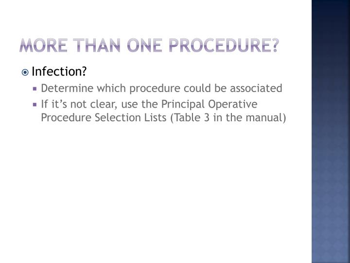 More than one procedure?