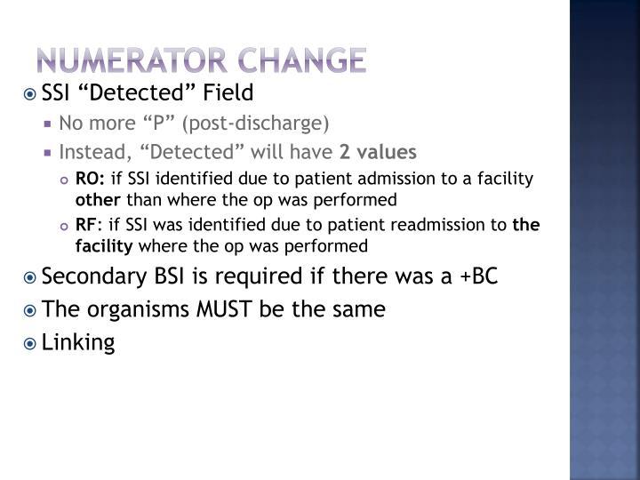 Numerator Change