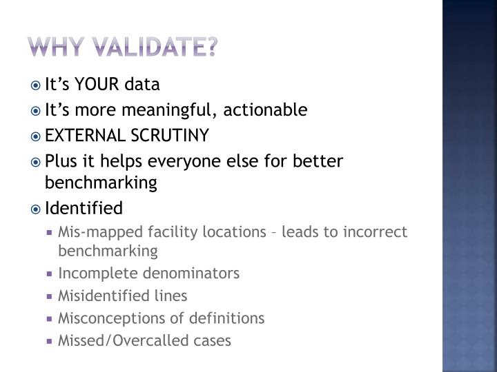 Why Validate?