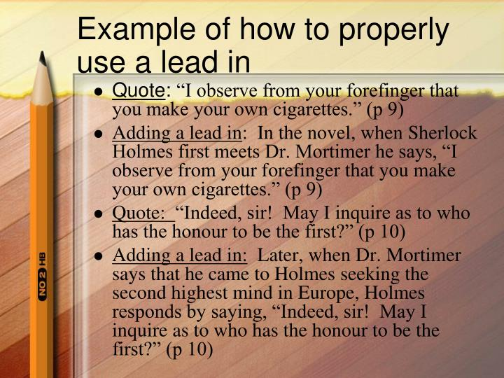 3 lead essay examples