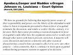apodaca cooper and madden v oregon johnson vs louisiana court opinion nemeth 1981 2001