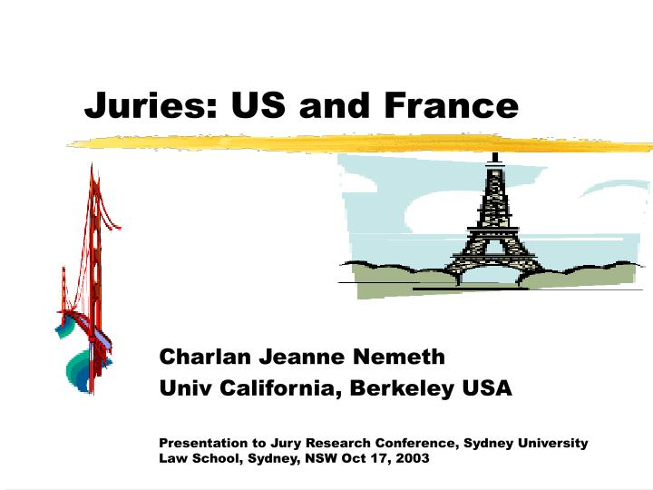 Juries us and france