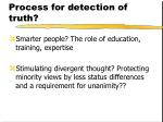 process for detection of truth