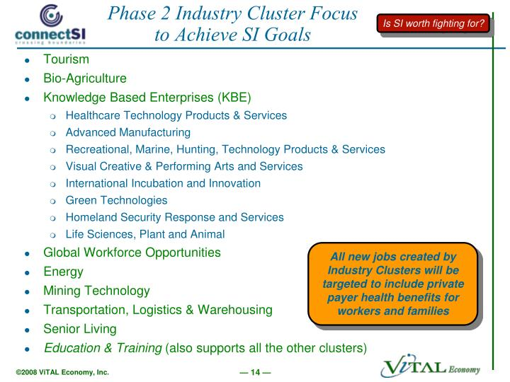 Phase 2 Industry Cluster Focus