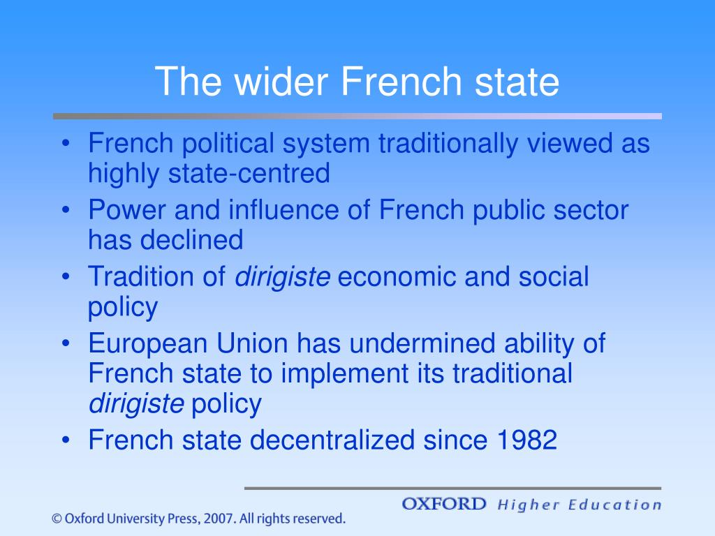 The wider French state