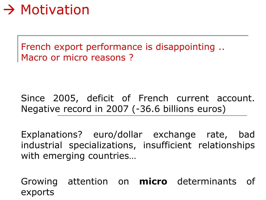 French export performance is disappointing ..