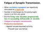 fatigue of synaptic transmission
