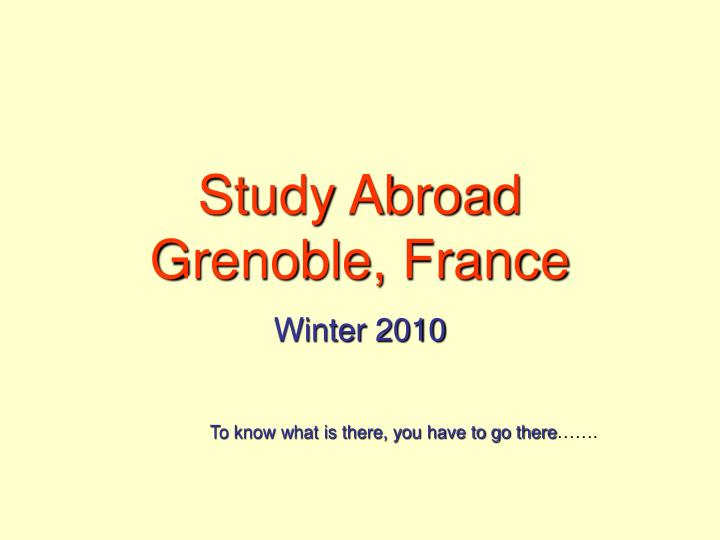 Study abroad grenoble france