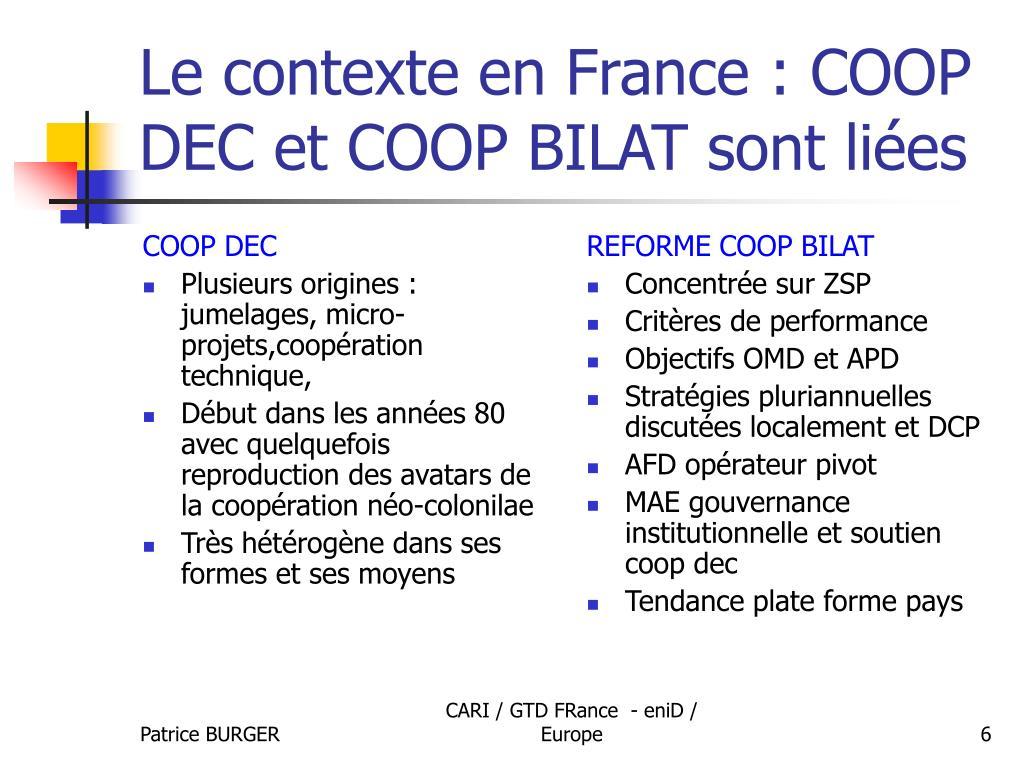 COOP DEC