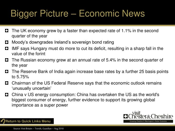 Bigger picture economic news