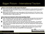 bigger picture international tourism