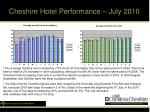cheshire hotel performance july 2010