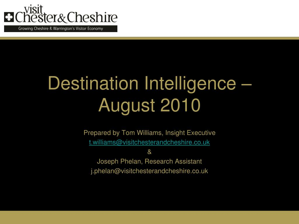 Destination Intelligence – August 2010
