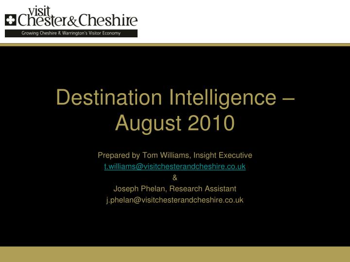 Destination intelligence august 2010