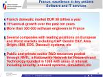 france excellence in key sectors software and it services