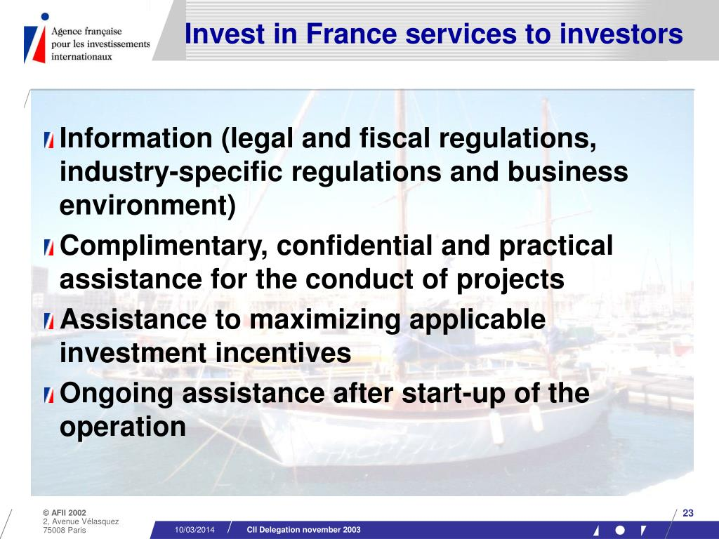 Invest in France services to investors