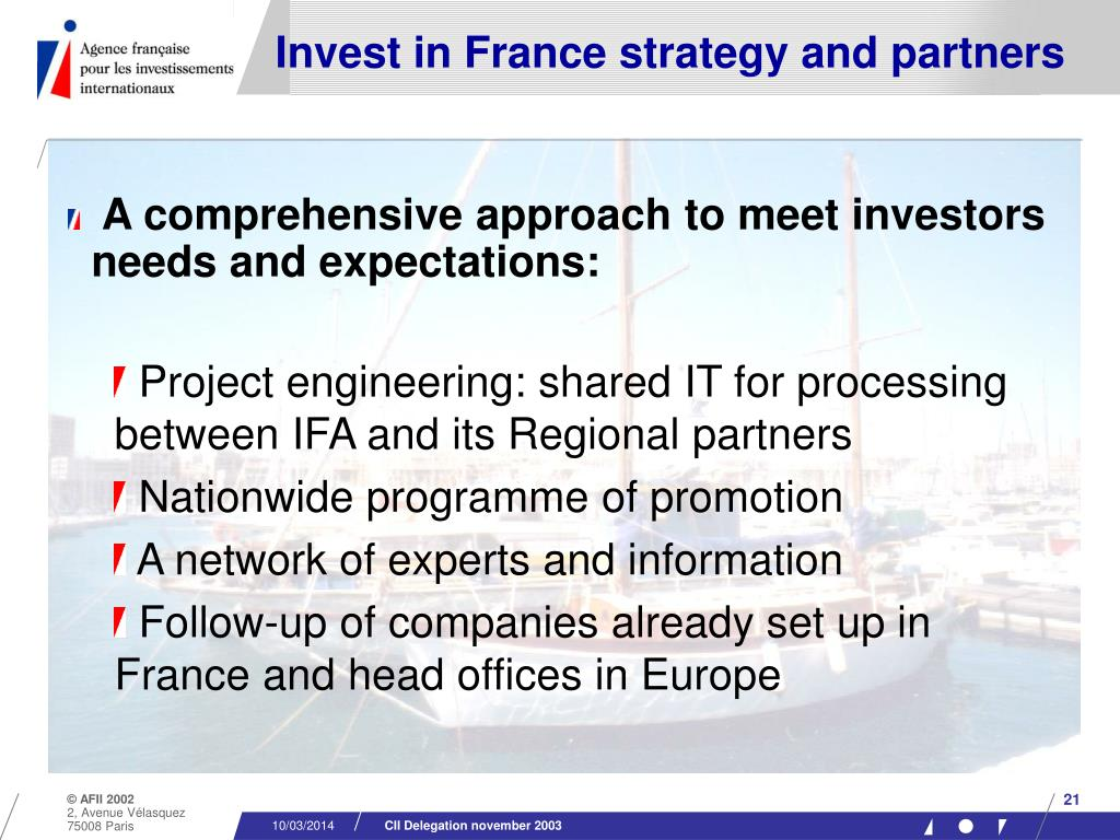 Invest in France strategy and partners