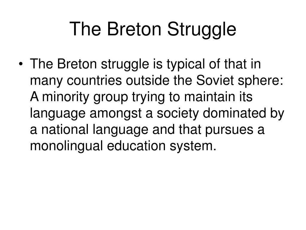 The Breton Struggle