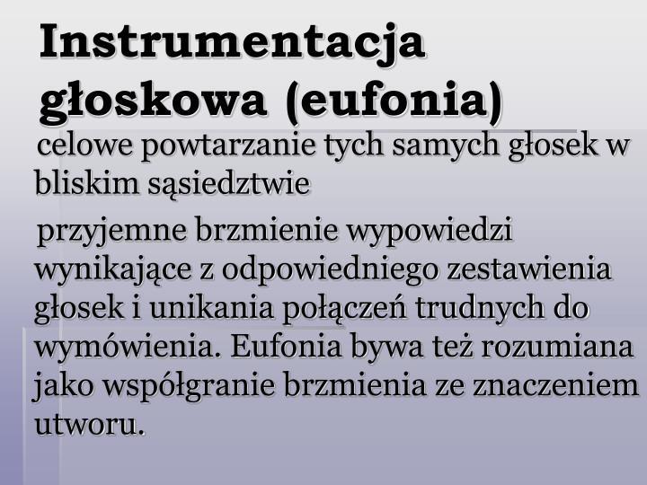 Instrumentacja głoskowa (eufonia)