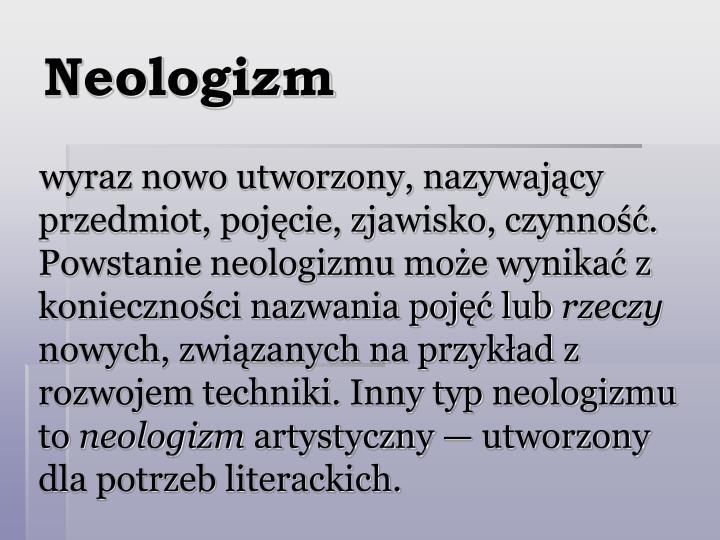 Neologizm