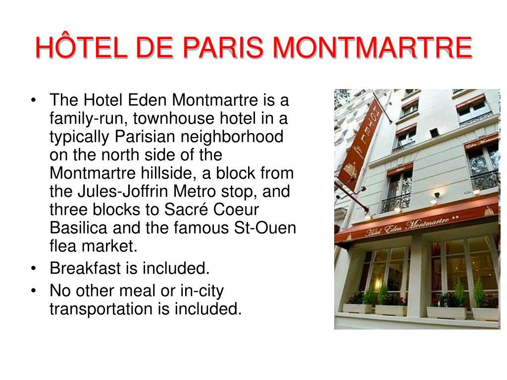 HÔTEL DE PARIS MONTMARTRE