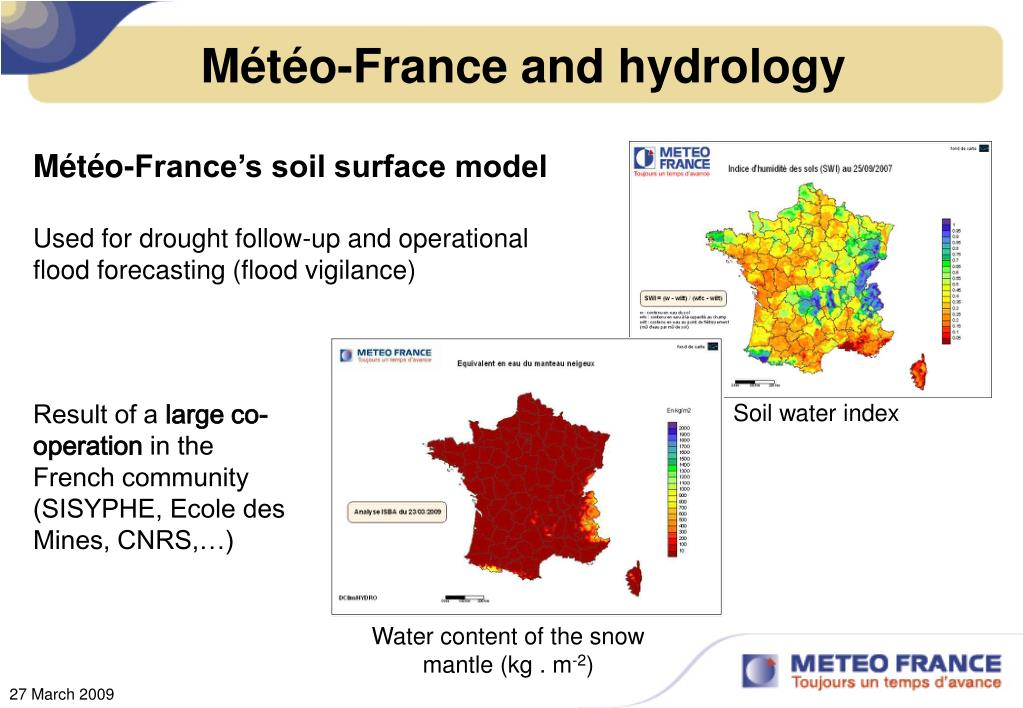 Météo-France and hydrology