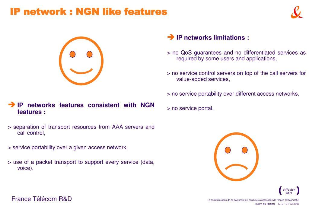 IP networks limitations :